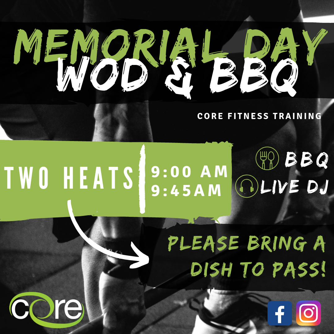 Memorial Day WOD & BBQ